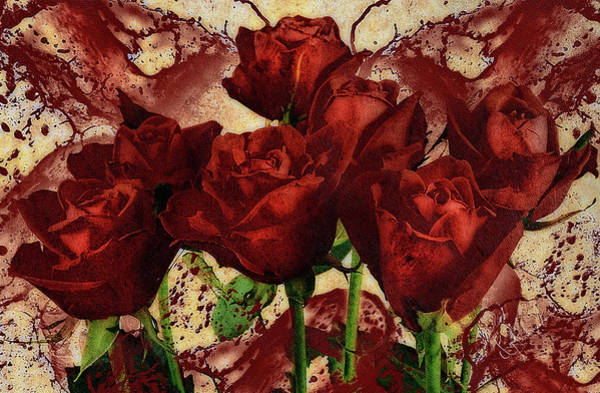 Mixed Media - Blood Red Lust by Isabella Howard