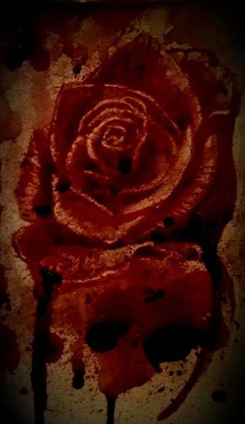 It Professional Painting - Blood Rose Number 2 by Ryan Almighty