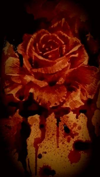 It Professional Painting - Blood Rose Number1 by Ryan Almighty