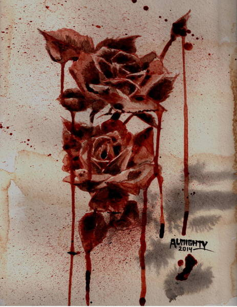 It Professional Painting - Blood Roses by Ryan Almighty