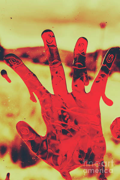 Victim Photograph - Bloody Halloween Palm Print by Jorgo Photography - Wall Art Gallery