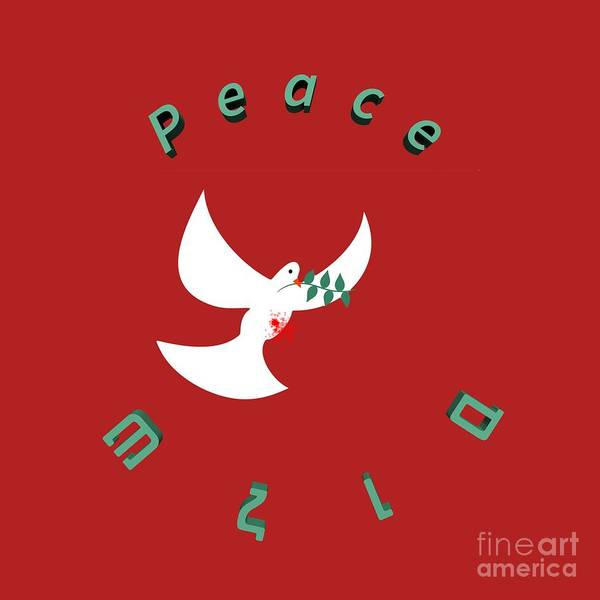 Olive Branch Digital Art - bloody peace Wounded dove symbol of peace  by Ilan Rosen