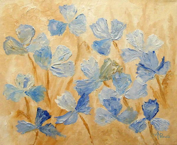 Painting - Bloom In Blue by Angeles M Pomata