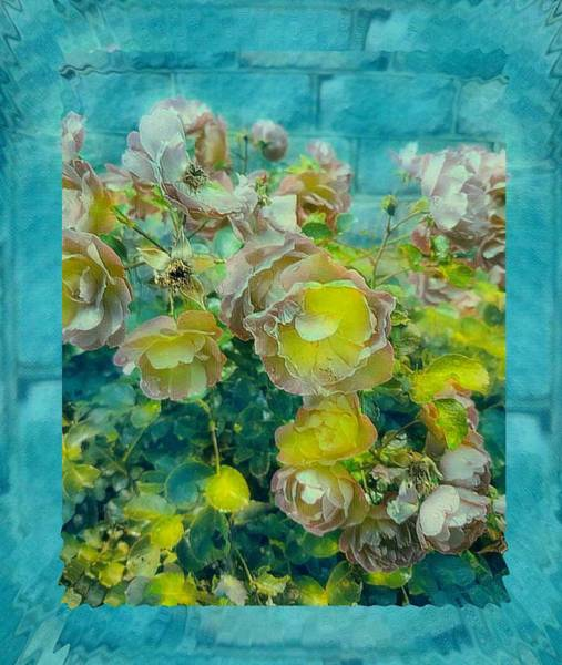 Wall Art - Mixed Media - Bloom In Vintage Ornate Style by Pepita Selles