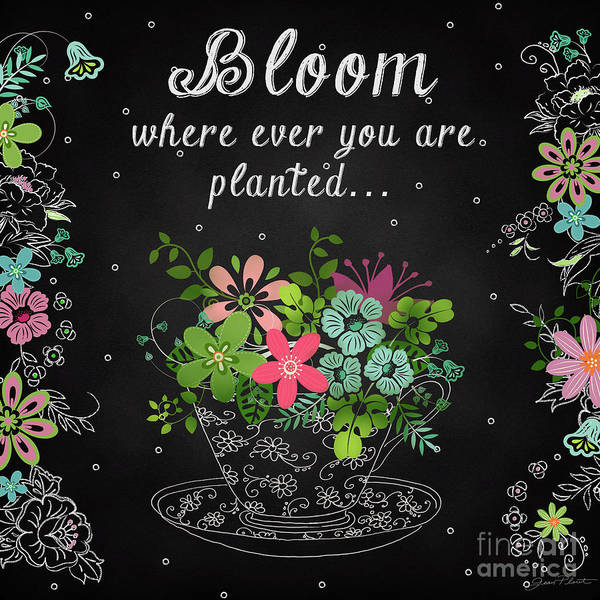 Wall Art - Painting - Bloom Where Planted-jp3928 by Jean Plout