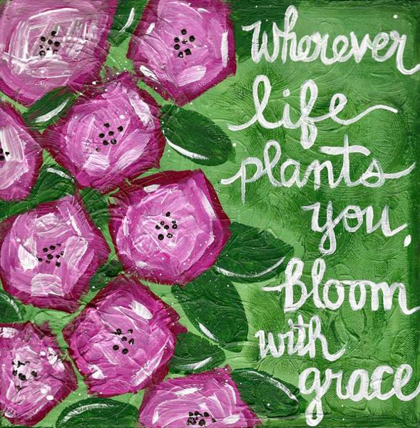Painting - Bloom With Grace by Monica Martin