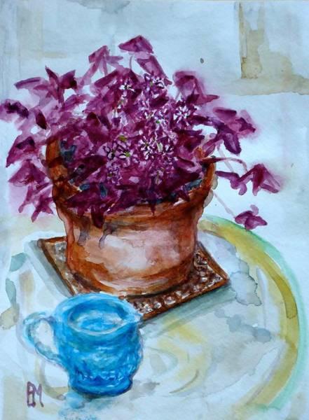 Terracotta Painting - Bloomin Purple Shamrock by Pete Maier