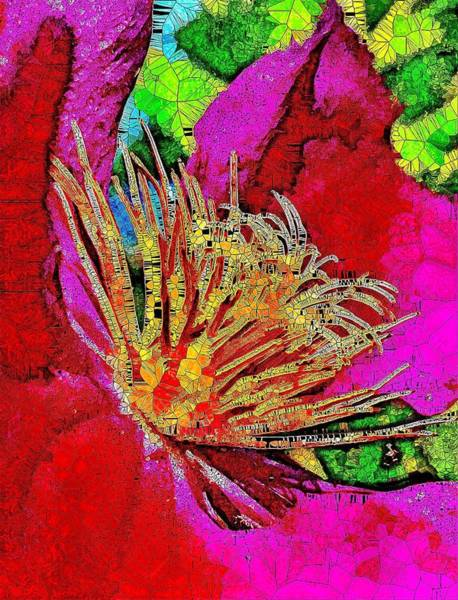 Climber Digital Art - Blooming Bright Clematis  by Mo Barton