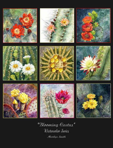 Painting - Blooming Cactus by Marilyn Smith