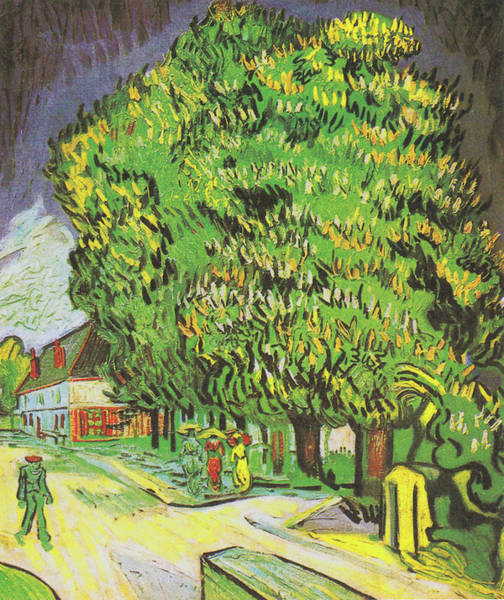 Painting - Blooming Chestnut Trees by Vincent van Gogh