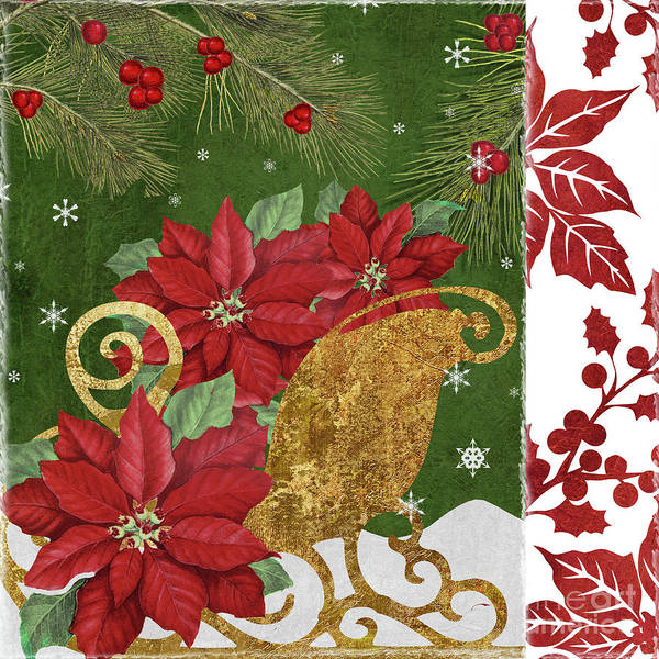 Amaryllis Painting - Blooming Christmas I by Mindy Sommers