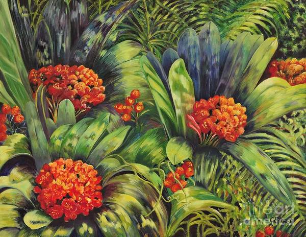 Clivia Wall Art - Painting - Blooming Gorgeous by Caroline Street