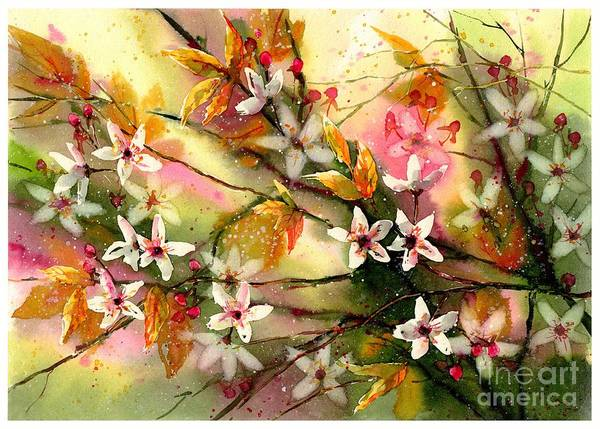 Florida Beach Painting - Blooming Magical Gardens II by Suzann Sines