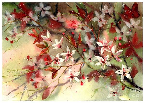 Florida Beach Painting - Blooming Magical Gardens IIi by Suzann Sines