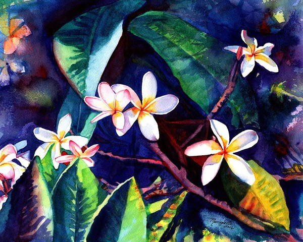 Painting - Blooming Plumeria by Marionette Taboniar