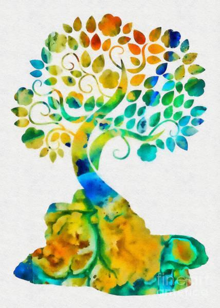 Blooming Tree Mixed Media - Blooming Tree by Olga Hamilton