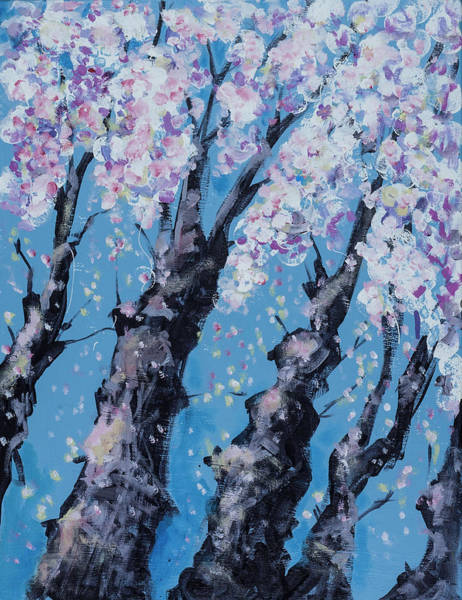 Painting - Blooming Trees by Maxim Komissarchik