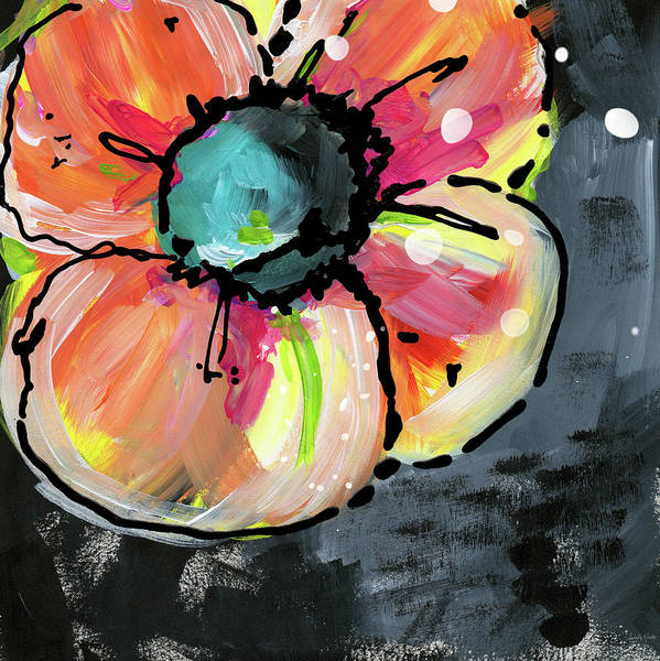 Bold Wall Art - Mixed Media - Blooming Wildflower- Art By Linda Woods by Linda Woods