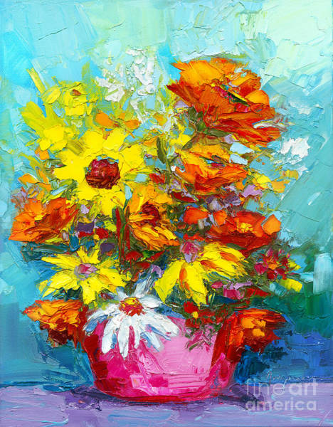 Painting - Colorful Wildflowers, Abstract Floral Art  by Patricia Awapara