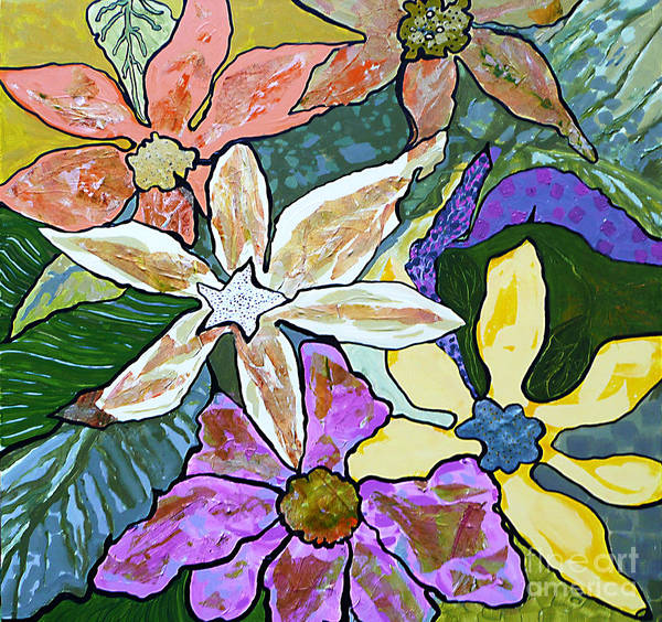 Painting - Blooms by Marilyn Brooks