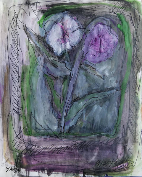 Mixed Media - Blooms Of Lavender by Katt Yanda