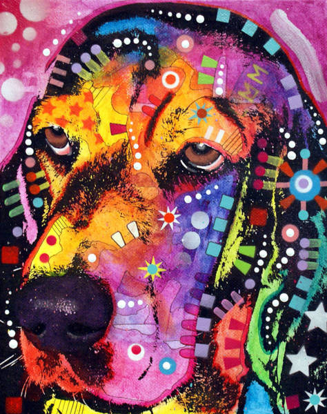 Wall Art - Painting - Blossom Basset Hound by Dean Russo Art