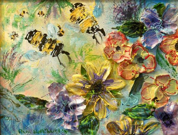 Painting - Blossom Buzz by Pam Halliburton