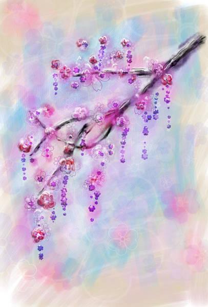 Wall Art - Painting - Blossom Cherry Branch by Svetlana Sewell
