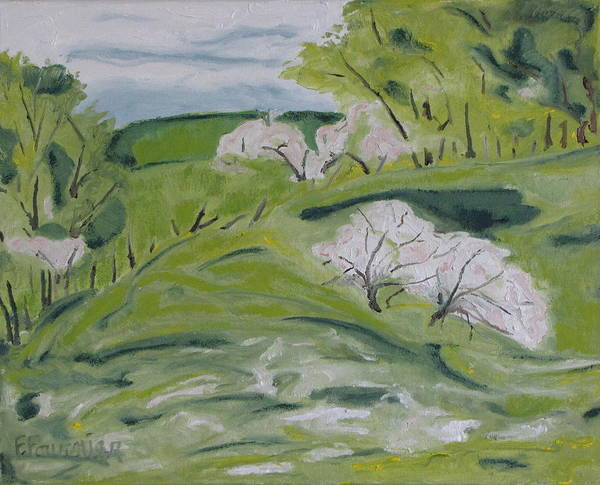 Wall Art - Painting - Blossom On The Hill by Francois Fournier