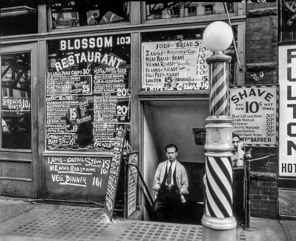 Photograph - Blossom Restaurant - Shave And Hair Cut Next Door by Gene Parks