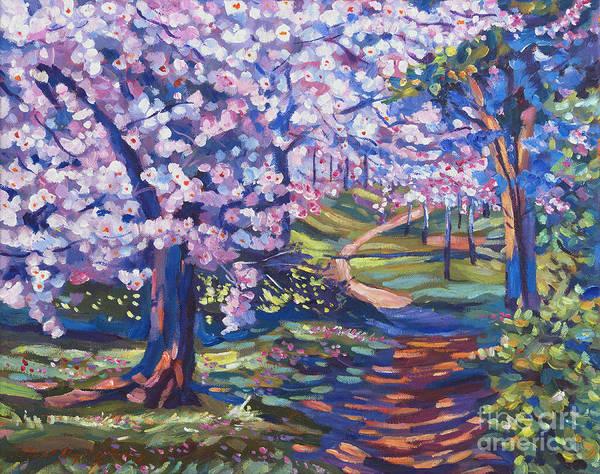 Painting - Blossom Season - Plein Air by David Lloyd Glover