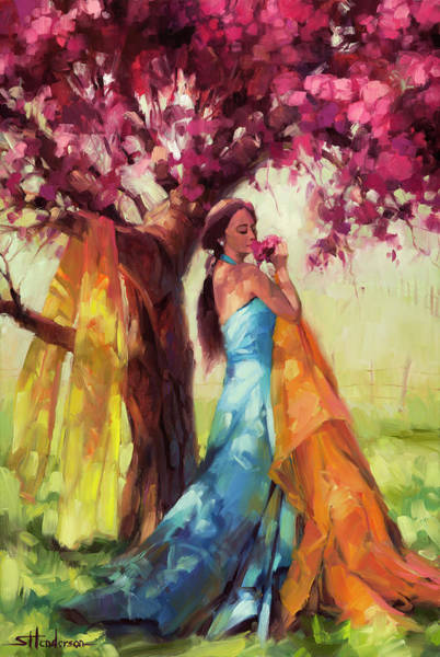 Yellow Sun Painting - Blossom by Steve Henderson