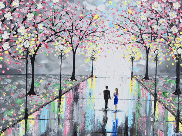 Wall Art - Painting - Blossoming Romance by Christine Bell