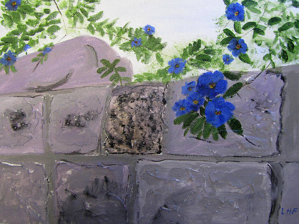Painting - Blossoms Along The Wall by Linda Feinberg