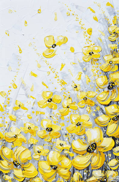 Wall Art - Painting - Blossoms Of Sunshine by Christine Bell