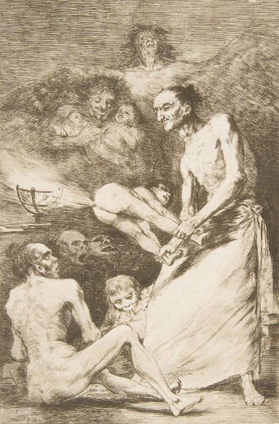 Relief - Blow by Francisco Goya