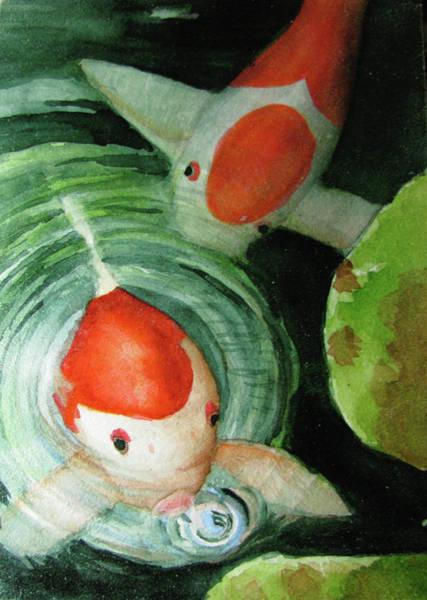 Painting - Blowing Bubbles by April Burton