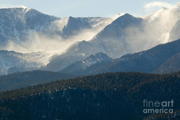 Photograph - Blowing Snow On Pikes Peak Colorado by Steve Krull