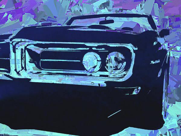 Digital Art - Blue 1968 Firebird Pop by David King