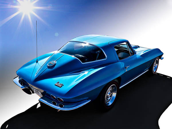 Chevrolet Digital Art - Blue '67  by Douglas Pittman