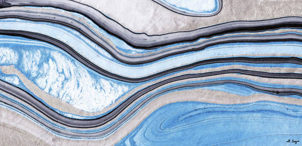Blue Wave Painting - Blue Abstract Art - Water And Sky - Sharon Cummings by Sharon Cummings