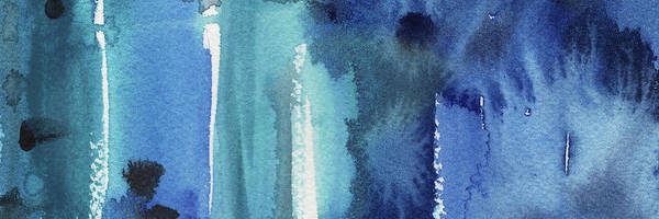 Ultramarine Blue Painting - Blue Abstract Cool Waters I by Irina Sztukowski