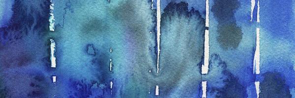 Wall Art - Painting - Blue Abstract Cool Waters II by Irina Sztukowski