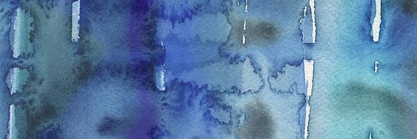 Ultramarine Blue Painting - Blue Abstract Cool Waters IIi by Irina Sztukowski