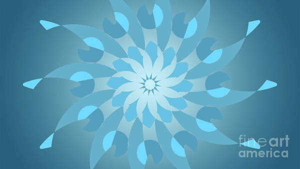 Cyan Digital Art - Blue Abstract Star For Home Decoration by Drawspots Illustrations