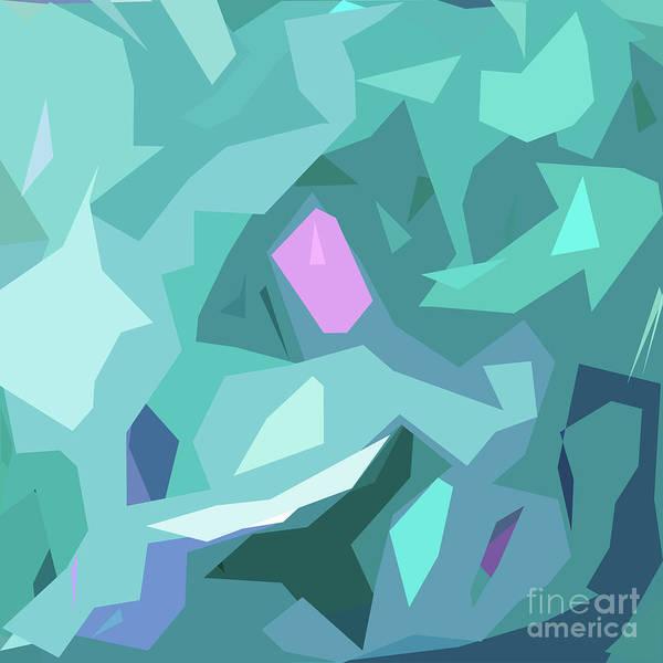 Back-to-school Digital Art - Blue Abstract by Ulli Karner