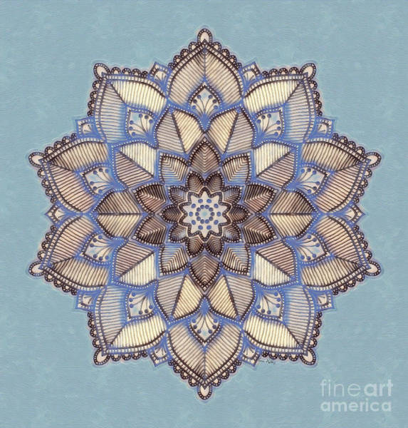 Painting - Blue And White Mandala by Lita Kelley
