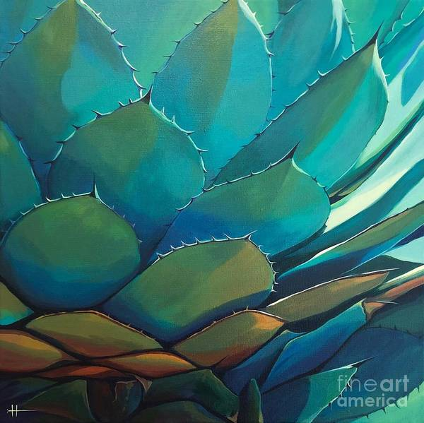 Wall Art - Painting - Blue Agave by Hunter Jay