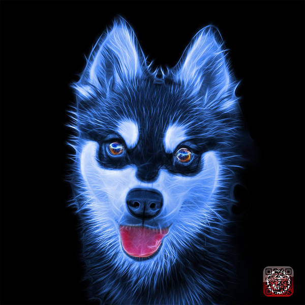 Painting - Blue Alaskan Klee Kai - 6029 -bb by James Ahn