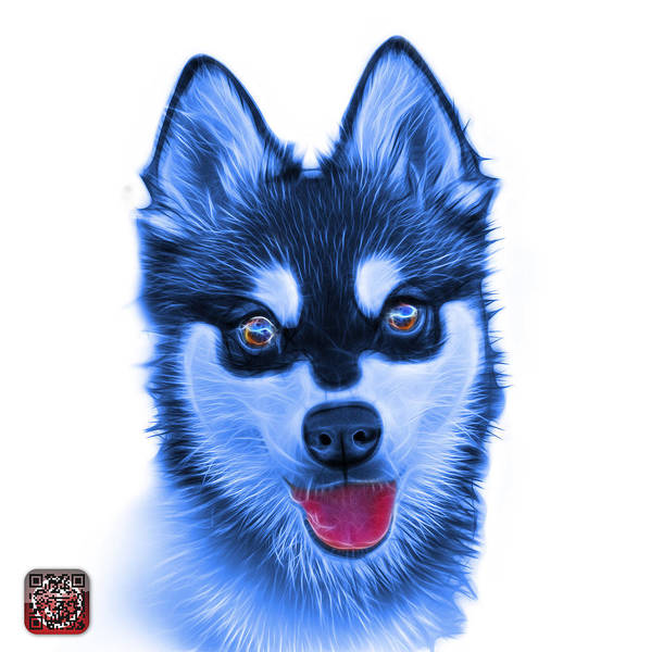 Painting - Blue Alaskan Klee Kai - 6029 -wb by James Ahn